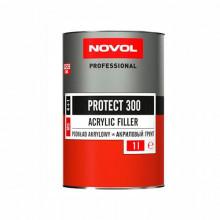 Грунт акриловый черный (без отвердителя) NOVOL PROTECT 300 MS 1 л / 37041