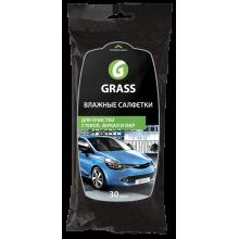 Влажные салфетки для очистки стекол, зеркал и фар GRASS / IT-0313