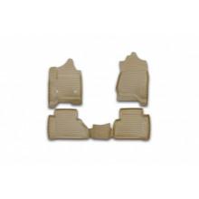 Коврики 3D в салон Element для BMW 3 F30 2012 > полиуретан бежевые 4 шт. / NLC.3D.05.31.212k