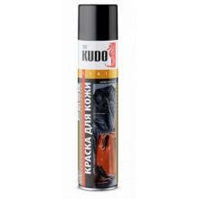 Краска для кожи KUDO черная 520мл аэрозоль / KU-5241