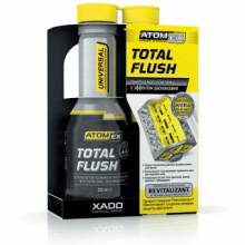 Atomex TotalFlush с ревитализантом Очиститель маслосистемы двигателей с эффектом раскоксовки поршневых колец флакон 250мл
