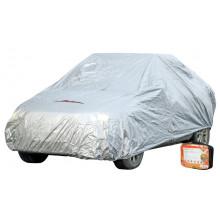 Чехол-тент AIRLINE на автомобиль защитный, размер S (455х186х120см), цвет серый, молния для двери, универсальный / AC-FC-01