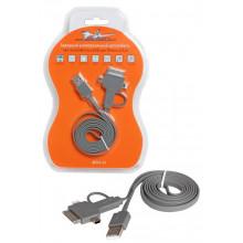 Зарядный универсальный датакабель 4 в 1 miniUSB/microUSB/для Iphone AIRLINE / ACH-4-13