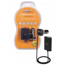 Зарядное устройство универсальное 4 USBx7.3A (2USB 1A+2.1A в прикуриватель + кабель 2 метра 2USBx2.1A для задних кресел) AIRLINE / ACH-4U-16