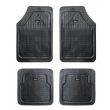 Ковры с высоким бортиком в салон автомобиля AIRLINE полимерные мелкоячеистые универсальные, цвет - черный, комплект из 4х ковров / ACM-RM-01