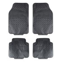 Ковры полимерные универсальные AIRLINE в салон автомобиля, цвет - черный, комплект из 4х ковров / ACM-RM-02