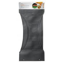 Коврик  салонный поперечный AIRLINE, полимерный, цвет черный, 25х60см / ACM-RM-07