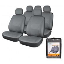 Чехлы для сидений универсальные AIRLINE CARDINAL, 11 пред, экокожа, цвет серый / ACS-UEL-01
