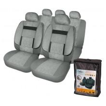 Чехлы для сидений универсальные AIRLINE MONRO, 11 пред., повыш. комфорт, велюр, темно-сер. / ACS-UV-02