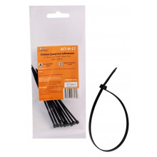 Стяжки (хомуты) кабельные AIRLINE 2,5*100 мм, пластиковые, черные, 10 шт. / ACT-N-17