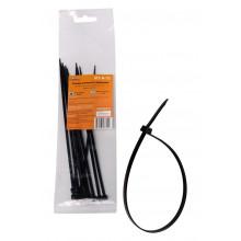 Стяжки (хомуты) кабельные AIRLINE 3,6*200 мм, пластиковые, черные, 10 шт. / ACT-N-21