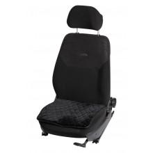 Накидка AIRLINE (подушка) из искусственного меха на сиденье, черная с коротким мехом, 1 шт. / AFC-A-02