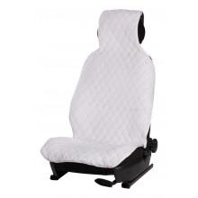 Накидка AIRLINE из искусственного меха, белая с коротким ворсом, на переднее сиденье, 1 шт. / AFC-A-03