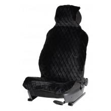 Накидка AIRLINE из искусственного меха, черная с коротким ворсом, на переднее сиденье, 1 шт. / AFC-A-04