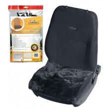 Накидка (подушка) из натурального меха на сиденье, цвет черный, 45*45см AIRLINE / AFC-SH-04