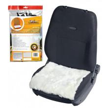 Накидка (подушка) из натурального меха на сиденье, цвет белый, 45*45см AIRLINE / AFC-SH-05