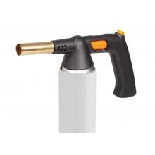 Горелка газовая AIRLINE с ручкой на резьбовой баллон, пьезоподжиг, анти-вспышка, 21,5*12,5*5,5 см / AGT-S-04