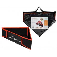 Органайзер угловой в багажник, складной 40*40*58*14 см (11л), черный/оранжевый AIRLINE / AO-SB-22