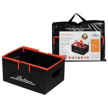 Органайзер в багажник, складной 36*18,5*26 см (17л), черный/оранжевый AIRLINE / AO-SB-23