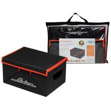 Органайзер с крышкой в багажник, складной 46*19*32 см (28л), черный/оранжевый AIRLINE / AO-SB-24