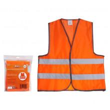 Жилет со светоотражающими полосами, взрослый, р. XL (65*65 см), оранжевый AIRLINE / ARW-AV-04