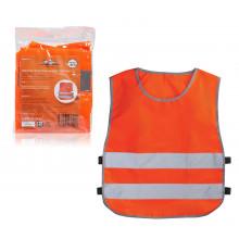 Жилет со светоотражающими полосами, детский, р. 30-34 (58*51 см), оранжевый AIRLINE / ARW-CV-03