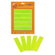 Наклейки светоотражающие, набор 5 шт.,12*2,5 см, зеленые AIRLINE / ARW-S-04