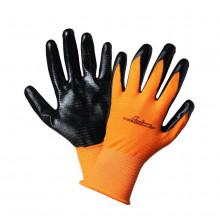 Перчатки AIRLINE с  двухслойным нитриловым покрытием ладони / AWG-L-03