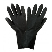 Перчатки AIRLINE латексные (защитные от агрессивных жидкостей) / AWG-LS-10