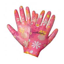 Перчатки AIRLINE нейлоновые женские с цельным полиуретановым покрытием ладони / AWG-NW-09