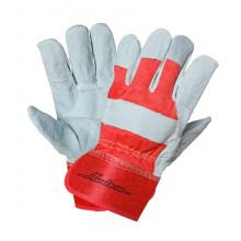 Перчатки AIRLINE спилковые, комбинированные EXPERT (защитные от механических повреждений ) / AWG-S-07