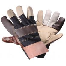 Перчатки AIRLINE комбинированные, натур. кожа/ткань / AWG-S-13