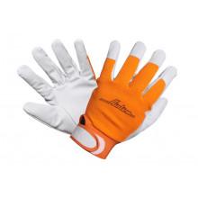 Перчатки AIRLINE козья кожа, комбинированные  / AWG-S-14