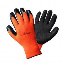 Перчатки AIRLINE утепленные с двухслойным латексным покрытием ладони / AWG-W-05