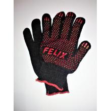 410060012 Перчатки FELIX хлопковые с пвх-покрытием (черные)